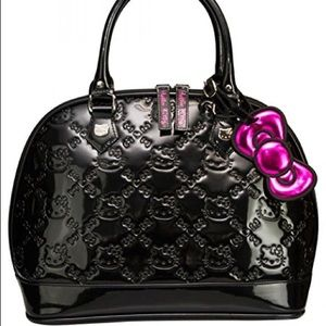 Loungefly Loves Hello Kitty Embossed Patent Dome